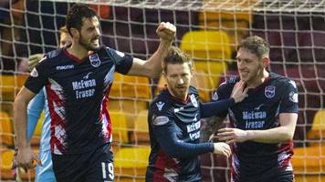 motherwell 1-2 ross county: championship leaders stun premiership side
