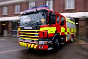 Firefighters tackling huge blaze at Leicestershire farm