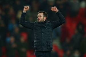 watch nathan jones's show of passion after stoke city beat leeds utd