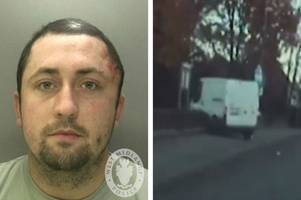 horror moment van thief in 90mph chase smashes into war memorial - on remembrance day