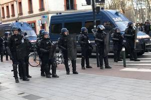 bath rugby fans forced to take shelter as police fire tear gas in toulouse