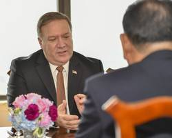 pompeo's wife criticised for travelling during shutdown