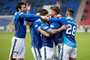 st johnstone 2 hamilton 0: saints stroll into the next round of the scottish cup