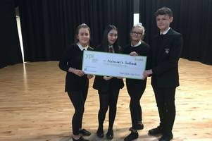 west lothian secondary school pupils in £3000 to support alzheimer's charity