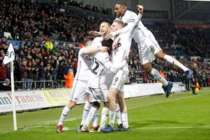 the swansea city player ratings as monumental oli mcburnie inspires swans to victory over the blades