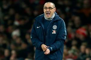 bbc pundits issue warning to maurizio sarri over his criticism of chelsea's players at arsenal