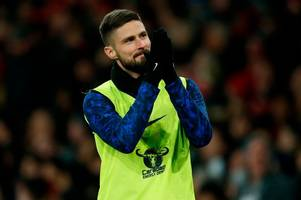 'nothing but love' - arsenal fans show love for ex-player and sing for chelsea's olivier giroud