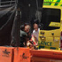 auckland construction worker hit by falling steel