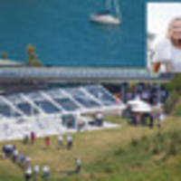 first photos: beauden barrett and hannah laity wed at island hideaway