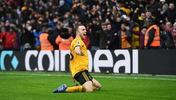 wolves 4-3 leicester: report, ratings & reaction as jota hat-trick steals seven goal thriller