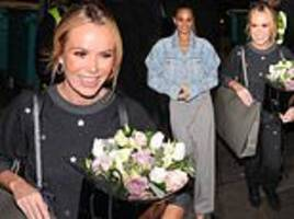 amanda holden opts for comfort as she leaves britain's got talent auditions in star tracksuit