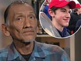 native american taunted by maga hat wearing youths felt threatened