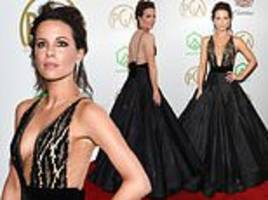 Kate Beckinsale is the epitome of glamour in opulent black gown at 2019 Producers Guild Awards