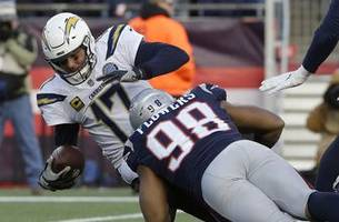 pats' flowers, brown fined $20k by nfl for hits vs. chargers