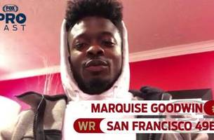 49ers wr marquise goodwin turns in his picks for the nfl conference championship games