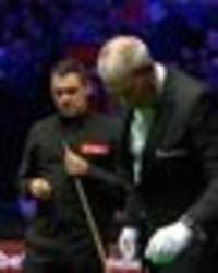 ronnie o'sullivan interrupted at masters snooker after wasp lands on table - pics