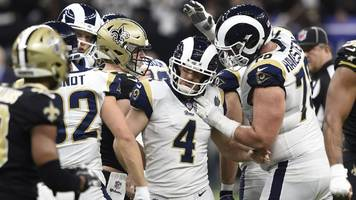 super bowl liii: la rams beat new orleans saints in overtime to reach atlanta showpiece