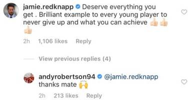 Jamie Redknapp sends message to Andy Robertson about new Liverpool FC deal