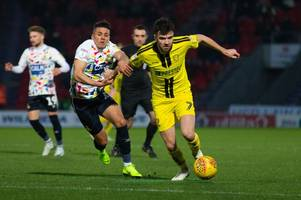 why scott fraser was brought off against doncaster rovers and david templeton did not start