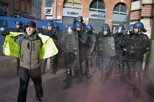 'unnerving' situation for gloucester rugby fans in france as police fire tear gas during protests
