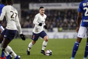 psg's verratti has sprained left ankle, set for more tests