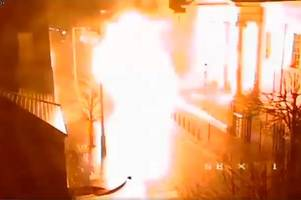 dramatic video shows youngsters' lucky escape from huge derry bomb blast