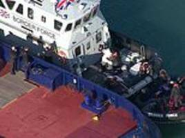 boat with 'six migrants' on board is picked up off the kent coast