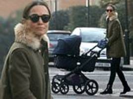 pippa middleton spotted back in london with baby arthur