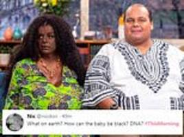 white couple, who identify as black, appear on this morning saying doctors claim baby will be black