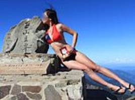 woman known as 'the bikini hiker' for scaling mountains in swimwear freezes to death in taiwan