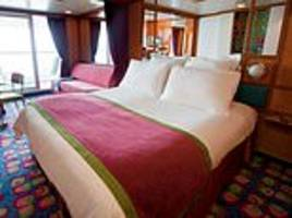 british cruise passengers find crew members having sex on the bed in their cabin