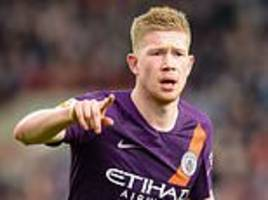 kevin de bruyne relishing man city's tight title tussle with liverpool