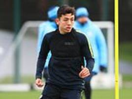 manchester city teenagers ian carlo poveda, iker pozo and taylor richards could play against burton