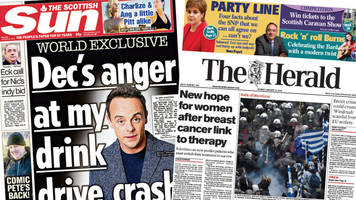 scotland's papers: cancer 'breakthrough' and obese children