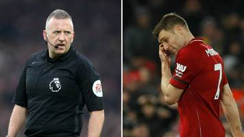 james milner: liverpool player sent off by his former pe teacher jon moss