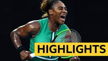 Serena Williams knocks out Simona Halep in epic Australian Open clash - highlights