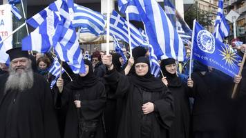 Thousands Protest In Greece Against Macedonia Name Change