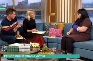 prince philip crash woman catches flack from this morning viewers for 'milking it'