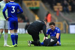 leicester city boss claude puel provides an injury update on harry maguire