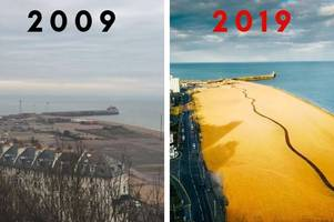 10 year challenge: Folkestone seafront's dramatic transformation over one decade in pictures