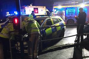 Police officer taken to hospital following crash in Bath
