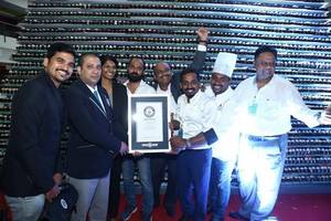 preethi zodiac mixer-grinder creates history breaks guinness world record for the tallest tower of cupcakes