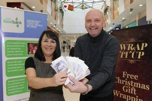 Regent Shopping Centre donates cash from Christmas to Hamilton District Foodbank