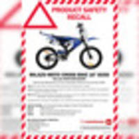 Motorcross bike sold by The Warehouse around Christmas recalled over safety concerns