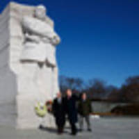 trump pays respects to civil rights leader on mlk day