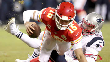 Chiefs Shut Out in First Half for First Time This Season by Patriots in AFC Championship
