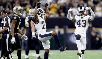 WATCH: Rams Celebrate NFC Championship Win With 'Choppa Style' Dance in Locker Room