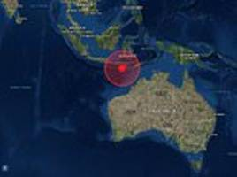 Four earthquakes 6.4 magnitude strike Indonesia five hours within kilometres of Western Australia