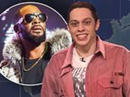 pete davidson says r. kelly is evil and the singer 'should get shot in the face'