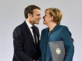 merkel boasts germany and france have taken first steps towards 'a european army' after signing pact